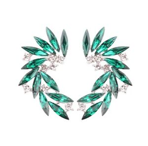 Shinning Rhinestone Wings stud acrylic crystal earrings