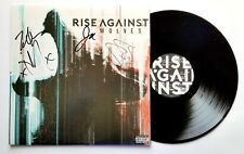 RISE AGAINST band REAL hand SIGNED Wolves vinyl LP COA all 4 Autographed