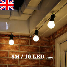 LED Globe G50 Warm White Bulb String Lights Connectable Outdoor Garland Street