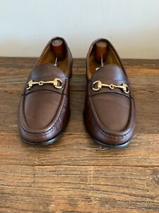 Cole Haan Chestnut BROWN Leather Gold Tone Horsebit Bit Loafers 9.5 M