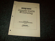 BUSH HOG REPAIR PARTS CATALOG LOG SPLITTER MOUNTED & GASOLINE
