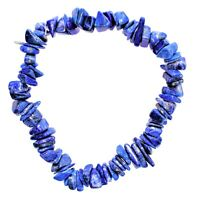 Premium CHARGED Lapis Lazuli Crystal Chip Stretchy Bracelet REIKI Energy