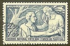 "FRANCE TIMBRE STAMP N° 498 "" SECOURS NATIONAL 2F50+ 7F50 "" OBLITERE TB"