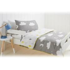 COT COMFORTER SET CLOUD MOON STARS REVERSIBLE TODDLER COMFORTER QUILT PILLOW SET