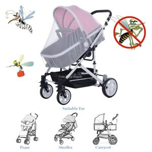 Insect Net x Pram Stroller & Carrycot Fly Mosquito & Bug Repellent Cover Screen