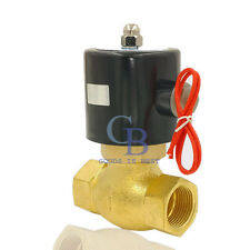 "DC 24V G2"" Electric Solenoid Valve Brass Air High temperature steam NC"