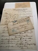 1864 Handwritten Letterhead Envelope Andrews Cincinnati OH Internal Revenue