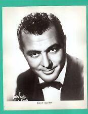 TONY MARTIN Actor Musician Promo 1950's Vintage Photo 8x10