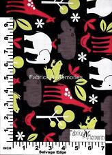 Zoology, Elephants, Giraffe Fabric Michael Miller F1071 BY THE HALF YARD