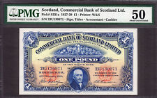 Commercial Bank of SCOTLAND Ltd One Pound 12th February 1936 P-S331a AUNC PMG 50