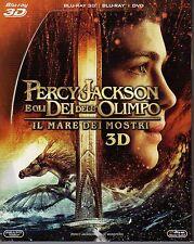 Blu Ray PERCY JACKSON - Il Mare dei Mostri (3D) (2 Blu-Ray+ Dvd) ......NUOVO
