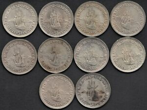 SOUTH AFRICA SILVER COIN LOT - 5 SHILLINGS GEORGE VI - 1952 - 285g SILVER KM# 4