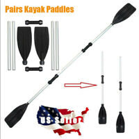 2 Pk Detachable Aluminum Alloy Afloat Kayak Oars Paddles Boat Rafting Canoe USA