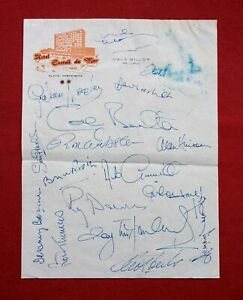 Derby County FC 1974 Original Signed Autographs x 18 Players Sport Football ⚽