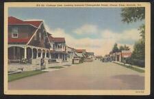 Postcard NORFOLK Virginia/VA  Chesapeake Street Cottage Line Houses/Homes 1930's