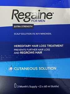 Regaine for Men Extra Strength Hair Loss & Regrowth Cutaneous Solution 3 Months