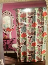 New Bed Bath & Beyond Cotton Shower Curtain 70x72 (178cmx183cm) -Retro Floral