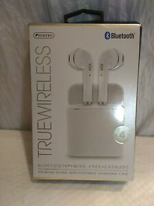 SENTRY BT979W TRUE-WIRELESS EARBUDS WITH CHARGING CASE - WHITE
