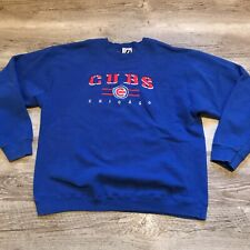 Vintage Chicago Cubs Blue Sweatshirt Men's Size XL