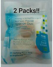 Andalou Clarity + Enlightenment Konjac Facial Sponge Duo - 2 packs