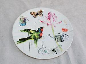 "Williams Sonoma Spring Garden Bird Floral Plate 8-1/2"" Luncheon Salad Plate"