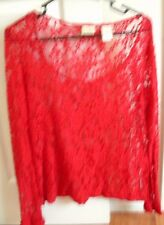 Day Trip Beautiful Ladies Lace Top Overlay Size S Long Sleeved