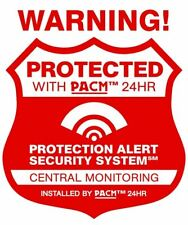 10 Real Home Security Alarm System Stickers & 1 Police Engraving Warning Decal