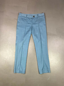 Moschino Blue Cotton/Silk Trousers Size 12