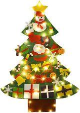 FunPa Felt Christmas Tree - 30 Pcs Ornaments Wall Decoration - 50 LED Lights