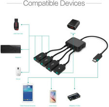 Micro USB HUB with Power 3-Port Charging OTG Host Cable Adapter for Smart Phone