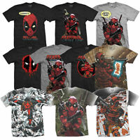 Marvel Official Licensed Deadpool Mens Sublimation and Printed T-shirts