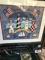 """Dimensions No Count Cross Stitch kit #39023 """"Hope Lights the Way"""" Den Strain"""