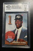 1992 Hoops Draft Redemption Shaquille O'Neal ROOKIE BCCG 10 GEM MINT HOF