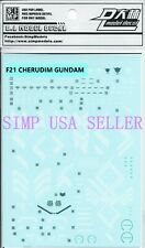 Gundam Seed CE model water slide decal SIMP D.L Dalin sticker F21 Cherudim