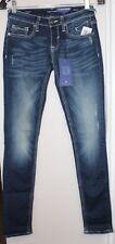 VIGOSS Women 25 X 31 Dark Wash Dallas SKINNY Jeans Destressed Vccp7878a