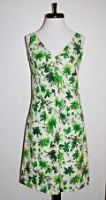 Vintage '60s Empire Waist Drop V Back/Neckline Dress —Silk Hawaiian Print