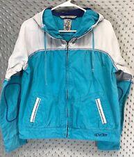 Spyder Widow Jacket Hood Womens Size Medium Blue Gray Lightweight Casual Ski