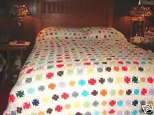 Hand Made Crochet Afghan Throw ~ Blanket  ~ Bedspread