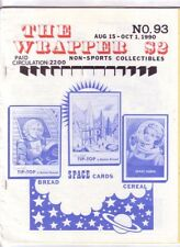 THE THE WRAPPER #93 - 1990 Non-sports cards fanzine BREAD AND CEREAL SPACE CARDS