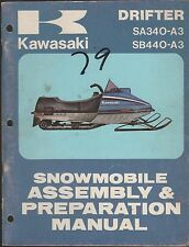1979 KAWASAKI DRIFTER SA340-A3 & SB440-A3 ASSEMBLY & PREPARATION MANUAL  (762)