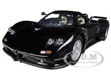 PAGANI ZONDA C12 BLACK 1/24 DIECAST CAR MODEL  BY MOTORMAX 73272