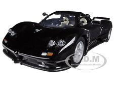 PAGANI ZONDA C12 BLACK 1/24 DIECAST CAR MODEL  BY MOTORMAX 73272