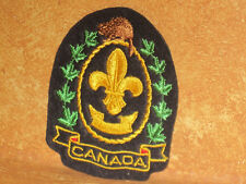 Boy Scouts Beaver Canada Badge Patch Embroidered Sew On Scout Black