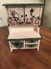 Miniature Dollhouse 1:12 Kitchen Hutch Hand Painted
