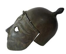 """13"""" CHINESE ANCIENT SOLDIER MASK_WEARABLE BRONZE MASK HELMET"""