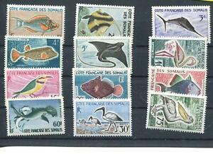 Frankreich Somaliküste (Côte française des Somal) Nr. 320 - 331 ** Fische + Vöge