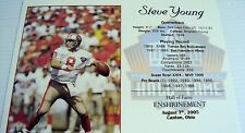 Steve Young - SF 49ers Football Hall of Fame Great Quarterback 8X10 Photos