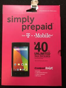 Coolpad Rogue Silver T-Mobile New Sealed Need To Unlock Otherwise Wifi Only