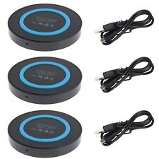 3Pcs QI Wireless Charging Pad Mat for Samsung Galaxy Note 8 S8 Plus S7 Active S6