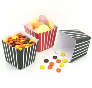 Small 7cm Mini Card Popcorn Boxes - Food Kids Party Children Cute